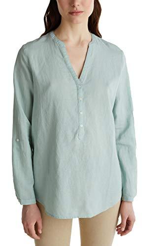 Esprit Damen 040EE1F325 Bluse, 390/LIGHT Aqua Green, 44