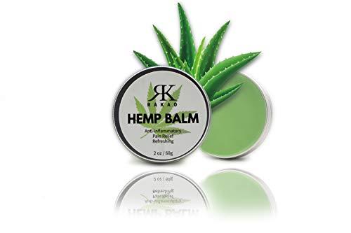RK RAKAO CBD Creme - Hanfcreme gegen Schmerzen - natürlich wirkend - Hanfbalsam für Rücken, Gelenke, Knie - CBD Vital - Muskelkater - entzündungshemmende Salbe - Muskelentspannung - Schmerzgel