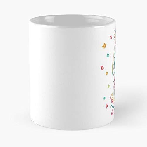 Trolls Movie Got That Sunshine in My Pocket - Taza de café de cerámica de mármol blanco I