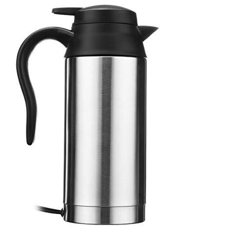Wasserkocher,Electric Kettle 750ml 24v Auto Heizung Tasse elektrische Wasserkocher Topf Camping Reise Reise Kaffee Tee Wasser beheizt Becher Kochen