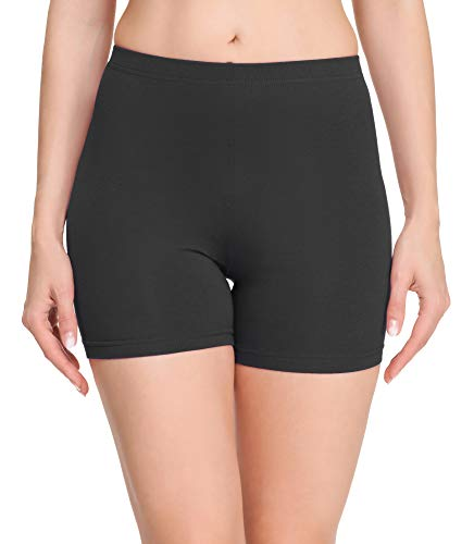 Merry Style Damen Shorts Radlerhose Unterhose Hotpants Kurze Hose Boxershorts aus Baumwolle MS10-392 (Graphite, S)