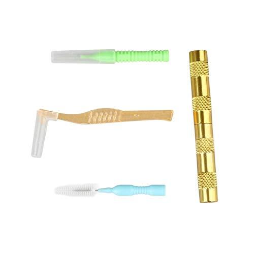 Fácil de montar Doble acción del aerógrafo aerosol reparación Pistola Boquilla de limpieza Kit de herramientas de la aguja y el sistema de cepillo de doble acción de la pintura de aerosol de limpieza