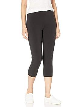 Hanes Women s Stretch Jersey Capri Black Medium