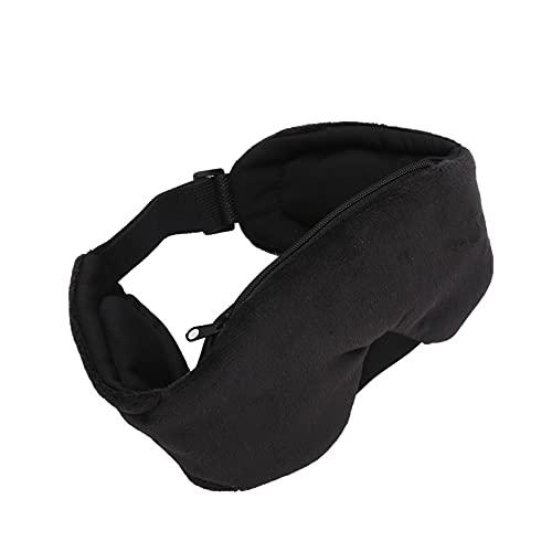 Máscara para dormir con Bluetooth con auriculares, BT5.0 Máscara de ojos opaca con música baja estéreo, Máscara para dormir de algodón con altavoz, Regalo de micrófono para dormir,tomar siestas(negro)