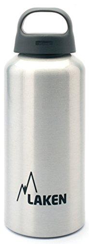 Laken Classic Botella de Agua. Cantimplora de Aluminio con Tapón de Rosca y Boca Ancha, 0,6L Aluminio