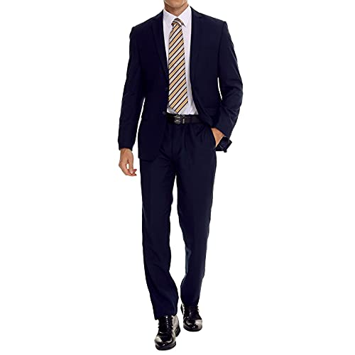 Henaet Navy Slim Fit Suit
