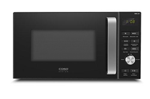 CASO | BMG20 Design Mikrowelle mit Grill, Mikrowelle 800 Watt, Grill 1000 Watt, 6 Mikrowellenstufen, 9 Automatikprogramme (inkl. Auftauprogramm), 95min. Timer, schwarz