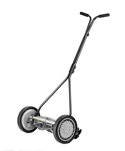 American Lawn Mower Company 1415-16 16-Inch 5-Blade Push Reel Lawn Mower, Grey