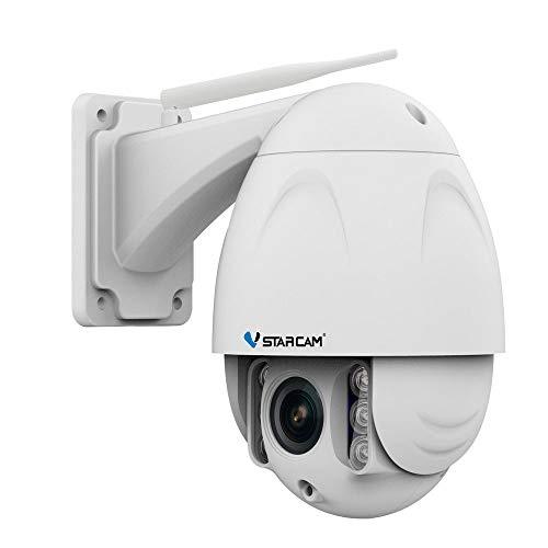 VStarcam C34S-X4 Full HD kabellose IP-Kamera 4-fach Zooming, wasserdichte Überwachungskamera, 1080p, ONVIF 2.4 Outdoor-Video, CCTV, WiFi-Kamera, Fernbedienung, Bewegungserkennung, UK-Stecker