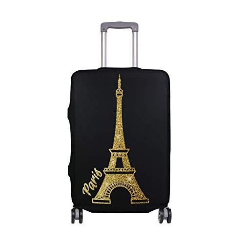 Luminoso Equipaje de Viaje para viajeros de la Torre Eiffel de París, con Ruedas giratorias, Maleta de Equipaje de 20 Pulgadas