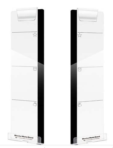 [フェアリーテール]モニターメモボード 作業効率アップ 取り付け簡単 パソコン用 ディスプレイ 付箋 メモ スマホホルダー付 (左右セット)