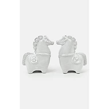 Jonathan Adler Horse S&P Shakers-White