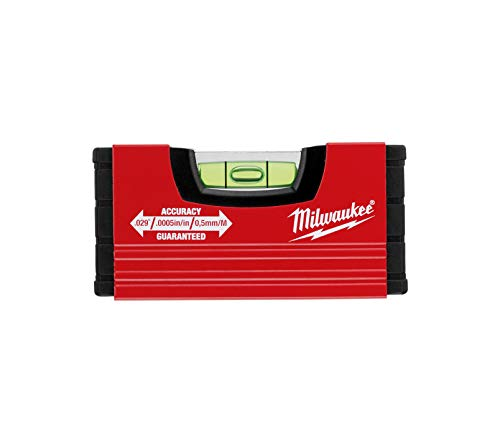 Milwaukee 4932459100 Wasserwaage Mini 10 cm, Red
