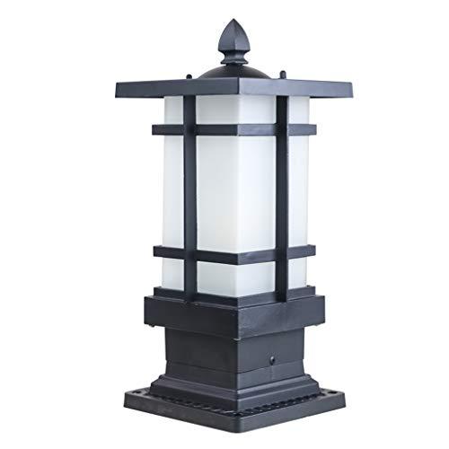 Rventric Garten lamp/Path Light, Outdoor-Säule Lampenlampe Wasserdichte Glastisch Lampe für Patio/Garden/Street/Hof E27 (Glühbirne Nicht inbegriffen)