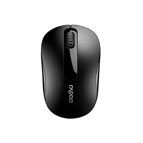 Rapoo M10 Plus kabellose Maus, Funkmaus, 2.4 GHz Wireless via USB, für PC / Laptop / Notebook / Computer / Mac, 1000 DPI, schwarz