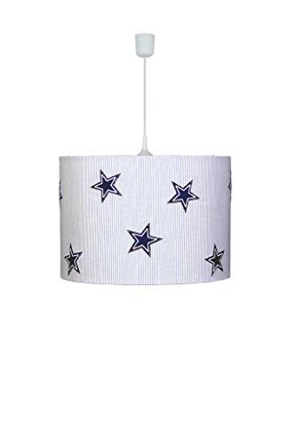 Waldi Leuchten Lampe suspendue étoiles, Denim Baleine – 70252.0