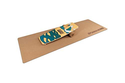 BoarderKING Indoorboard Limited Edition Wakeboard - Skateboard Surfboard Trickboard Balanceboard Balance Board (Berge, 100 mm x 33 cm (Ø x L))