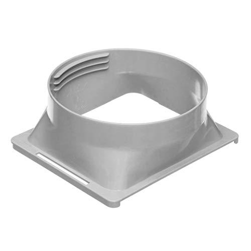 Folewr conector portátil cuadrado del tubo de la interfaz del conducto de escape del cuerpo del aire acondicionado del 15cm