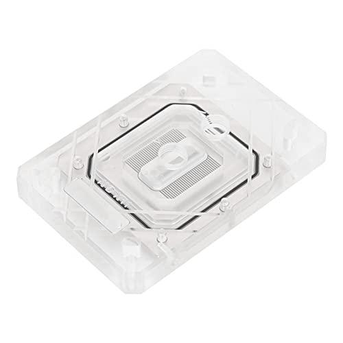 Oumij1 Bloque de enfriamiento de Agua para computadora - Disipación de Calor rápida Bloque de enfriamiento de Agua de CPU - con área de Contacto Grande - para AM2 / AM3 / TR4