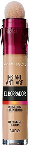 Maybelline New York, Corrector de Ojeras, Bolsas e Imperfecciones, Borrador Ojos, 04 Honey, 6 ml