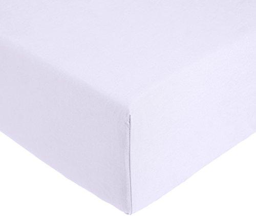 AmazonBasics 'Everyday' Lenzuolo con angoli singolo, in 100% cotone, Lilla 90 x 200 x 30 cm