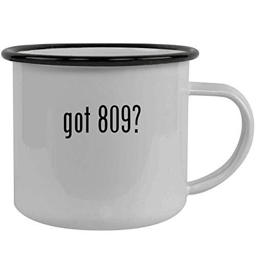 got 809? - Stainless Steel 12oz Camping Mug, Black