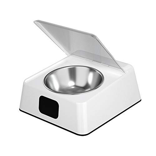 MOVKZACV Distributore automatico di cibo per cani di gatto, 350 ml, distributore automatico di cibo per cani di gatto, copertura dell'interruttore a sensore a infrarossi con display digitale