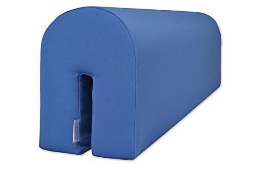 Bettumrandung zum Schutz Ihres Kleinkindes - Sicher und bequem für Ihr Kind - Schaumstoffschutz, blau, 14x20x73