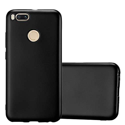 Cadorabo Funda para Xiaomi Mi A1 / 5X en Metallic Negro – Cubierta Proteccíon de Silicona TPU Delgada e Flexible con Antichoque – Gel Case Cover Carcasa Ligera