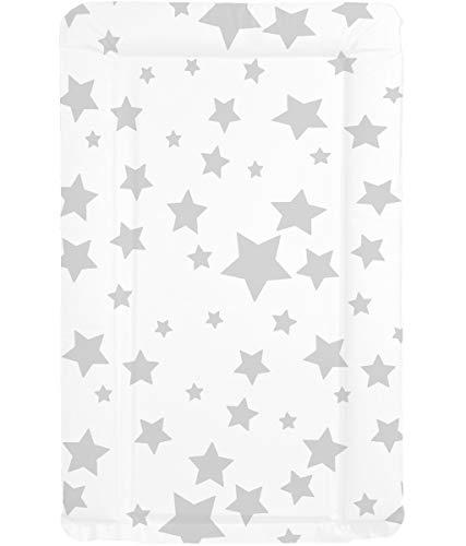 Callowesse © Cambiador de Bebé - Acolchado Suave - Resistente al Agua - Limpiar con un Paño - Colchoneta Cambiador Portátil Visita la Store de Callowesse (Estrellas Grises)