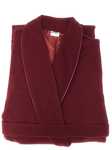 Dueffe Vittoria - Bata de dormitorio para mujer, chal de pura lana mixta de cachemira, muy suave y cálida burdeos XS
