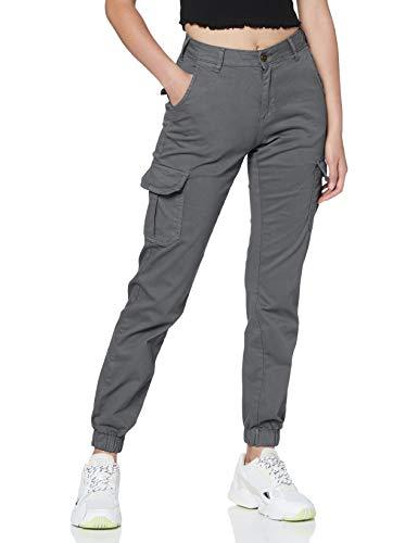 Urban Classics Damen Ladies Hose High Waist Cargo Pants, lightshadow, 30