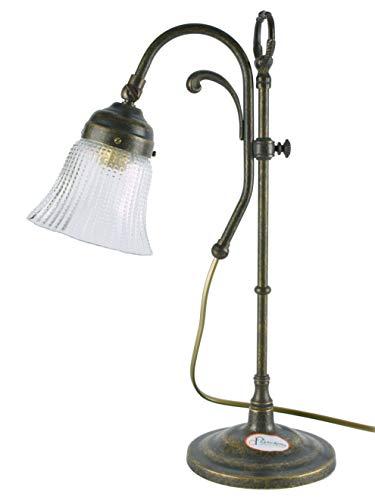 Tischlampe Messing brüniert, Lampen Jugendstil Höhenverstellbarer Schreibtisch SC23Abmessungen:...