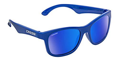 Cressi Kiddo Sunglasses, Occhiali da Sole per Bambino Unisex 6+ Anni, Royal Blu/Lenti Specchiate Blu