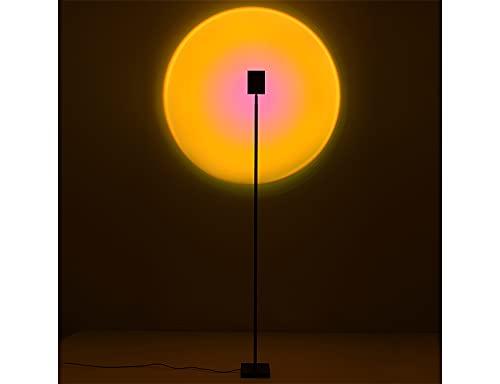 Tauzveok Lámpara de pie LED Rainbow Sunset Light Decoración Luz Ambiental para Sala de Estar, Dormitorio, Bar, Fiesta, Accesorios de fotografía, Fondo, el Sol Nunca se Pone,Sunset Red