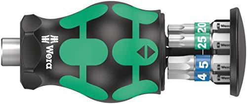 Wera 05008875001 Kraftform Kompakt Stubby 3 Schraubendreher mit Bit Magazin, 6-teilig