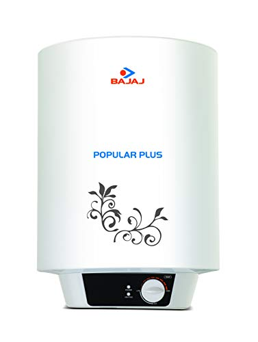 Bajaj Popular Plus Storage 25-Litre Vertical Water Heater, White, 3 Star