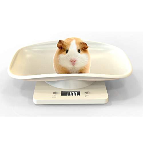 Aceshop Báscula Digital para Mascotas con Pantalla LCD, 4 Modos de Pesaje (oz/ml/LB/g) para Mascotas y Cocina Que Miden Gatos Pequeños, Perros, Alimentos, Capacidad de hasta 10kg/ 2lb