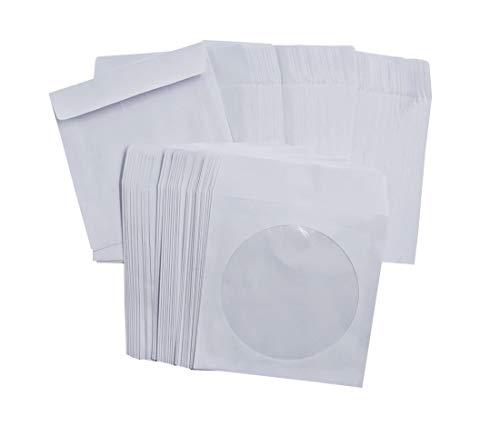 ZERONOWA CDケース クラフト紙 紙製 収納 ケース 整理 大容量 (ホワイト100枚)