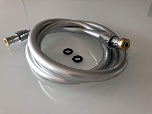 Ew-haustechnik - Manguera de ducha (1 m, 1,5 m, 2 m, 2,5 m), color plateado