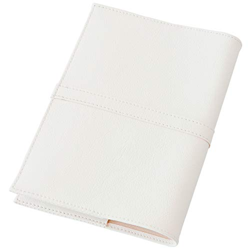 TEES FACTORY 国産 PVC レザー ブック カバー SION 御朱印帳(小)判 しおり付き ホワイト 合成皮革