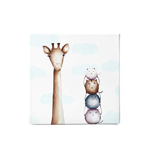 Stampa su tela con giraffa I decorazione per camera dei bambini I Animali safari I Decorazioni murali e quadri su tela per la camera dei soggiorno