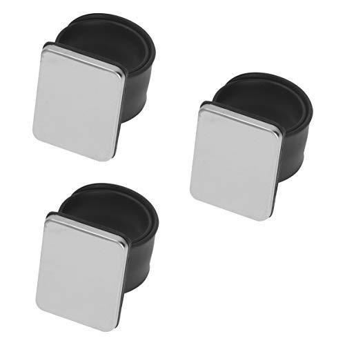 EXCEART 3 Pcs Magnétique Porte-Épingle Magnétique Poignet Couture Pincushion Silicone Coiffeur Poignet Sangle pour Salon Boutique Couture Artisanat (Noir)