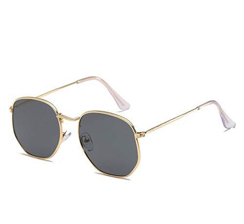 SUN100 Gafas De Sol Redondas Retro Gafas De Sol Para Mujer Gafas De Sol De Espejo De Aleación