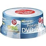 Memorex 16x DVD-R Media - 4.7GB - 120mm Standard - 20 Pack Spindle - 4738