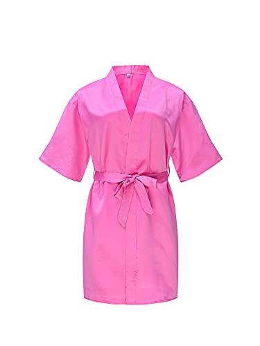 L&ieserram Albornoz para niña suave kimono bata, albornoz para niño, ropa de noche, albornoz de microfibra, pijama para niño y niña Rosab 3-5 años