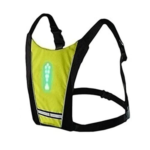 Chaleco reflectante Vestido de ciclismo inalámbrico LED 20 litros bolsa de bicicleta de montaña Seguridad LED de seguridad Vestir chaleco de la señal de bicicleta Chaleco de advertencia con control re