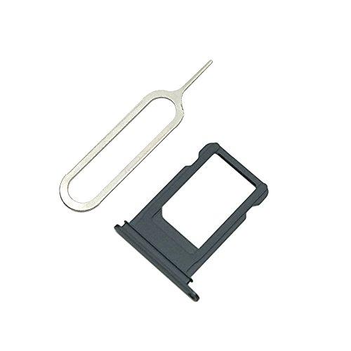 Cemobile Soporte de la Bandeja de Tarjeta SIM Reemplazo para iPhone 7 4,7 Pulgadas (Negro Mate)