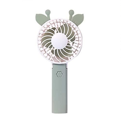 AIEason - Ventilador de mesa USB recargable con batería, miniventilador telescópico plegable de mano para el hogar, la oficina y el recámara