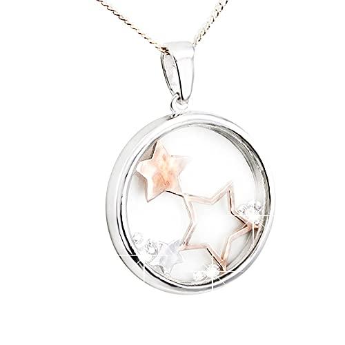 Eira Wen Collar de Cristal de Swarovski Colgante de constelación en baño de Plata para Mujeres, Damas, Aniversario, cumpleaños, día de la Madre, joyería, Regalos para su Madre, Esposa, Novia
